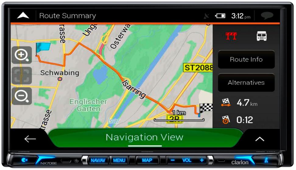 Navigatore 2DIN Clarion NX706e