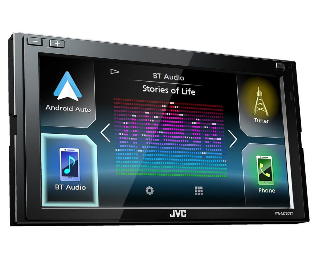 KW-M730BT. Android Auto View
