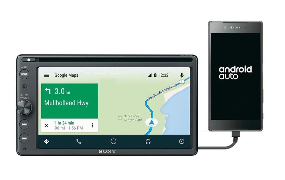 Sony XAV-AV200. Android Auto