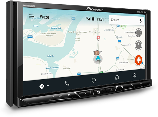 Gestione di Waze da Touch Screen