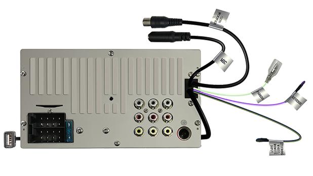 DMX110BT. Connessioni posteriori